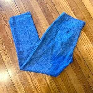Banana Republic Chambray Avery Fit Slacks sz 2